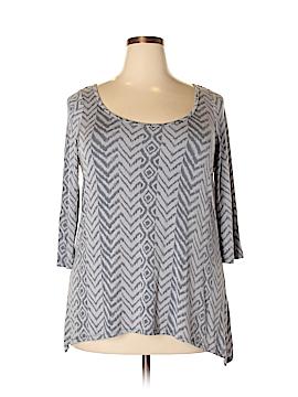 Marina Luna 3/4 Sleeve Top Size 1X (Plus)
