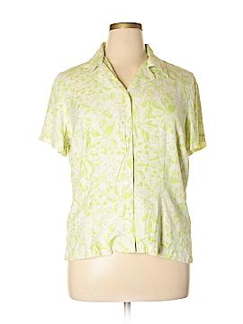 Liz Claiborne Golf Short Sleeve Button-Down Shirt Size XL