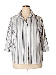 Apt. 9 Women 3/4 Sleeve Button-Down Shirt Size 2X (Plus)