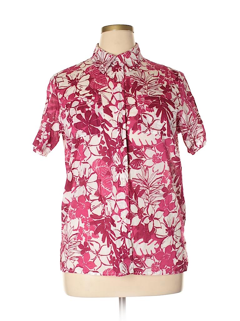 Villager Women Short Sleeve Button-Down Shirt Size XL