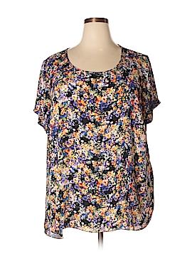 Spense Short Sleeve Blouse Size 2X (Plus)