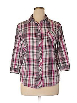 Op 3/4 Sleeve Button-Down Shirt Size XL