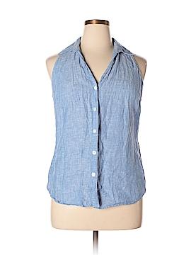INC International Concepts Sleeveless Button-Down Shirt Size 20 (Plus)