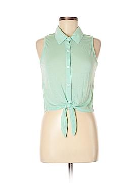 Popular Basics Short Sleeve Button-Down Shirt Size L