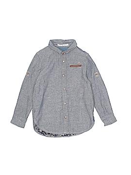 Scotch Shrunk Long Sleeve Button-Down Shirt Size 4