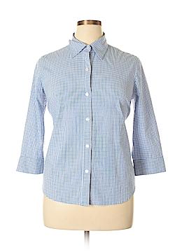 IZOD 3/4 Sleeve Button-Down Shirt Size XL