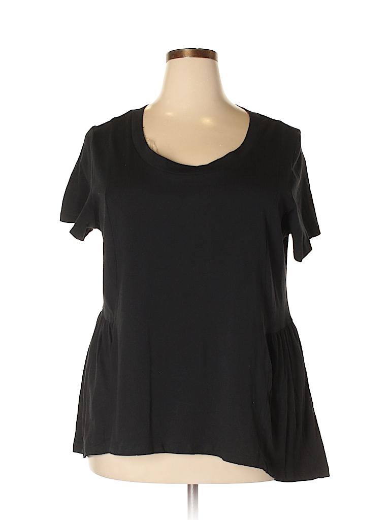 American Rag Cie Women Short Sleeve Top Size 1X (Plus)