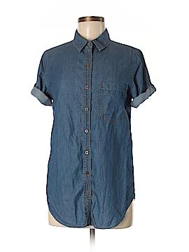 Girl Krazy Short Sleeve Button-Down Shirt Size M