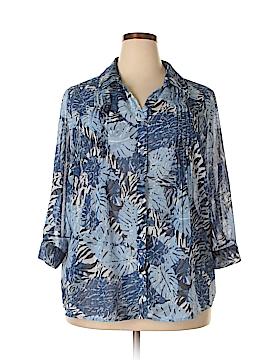 Gloria Vanderbilt 3/4 Sleeve Blouse Size 1X (Plus)