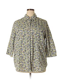 Avenue 3/4 Sleeve Button-Down Shirt Size 18/20 Plus (Plus)