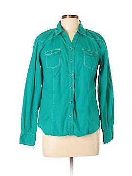 Bit & Bridle Long Sleeve Button-Down Shirt Size M