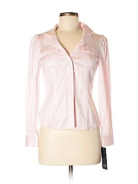AK Anne Klein Long Sleeve Button-Down Shirt Size 5 (Petite)