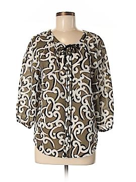 Diane von Furstenberg 3/4 Sleeve Blouse Size 8