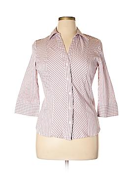 Hillard & Hanson 3/4 Sleeve Button-Down Shirt Size XL