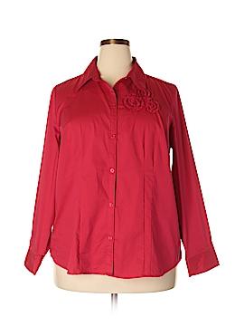 Fashion Bug Long Sleeve Button-Down Shirt Size 1X (Plus)