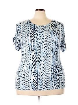 Calvin Klein Short Sleeve Top Size 1X (Plus)