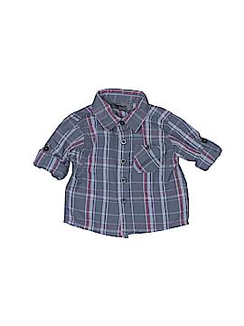 DKNY Long Sleeve Button-Down Shirt Size 0-3 mo