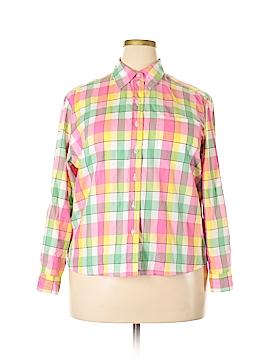 Allison Daley Long Sleeve Button-Down Shirt Size 16 (Petite)