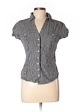 Derek Heart Short Sleeve Button-Down Shirt Size L