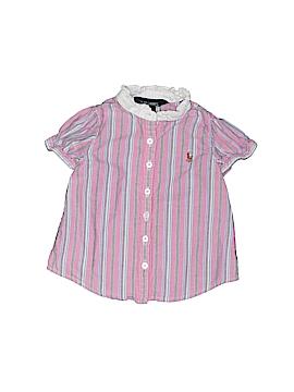 Ralph Lauren Short Sleeve Button-Down Shirt Size 9 mo