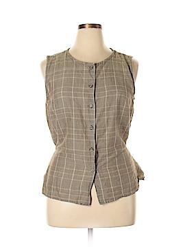 Kathy Ireland Sleeveless Button-Down Shirt Size L