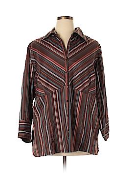 Millenium Long Sleeve Button-Down Shirt Size 24 (Plus)