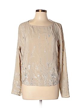 Spiegel Long Sleeve Silk Top Size L