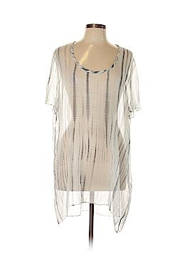 Eileen Fisher Short Sleeve Silk Top Size XL