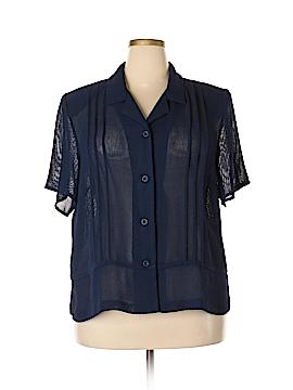 DressBarn Short Sleeve Button-Down Shirt Size 20 (Plus)