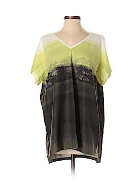 Lafayette 148 New York Short Sleeve Blouse Size M