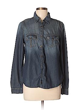 Xhilaration Long Sleeve Button-Down Shirt Size L