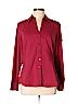 Express Design Studio Women Long Sleeve Button-Down Shirt Size L