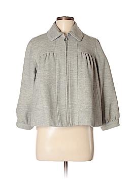 Pink Tartan Wool Coat Size M