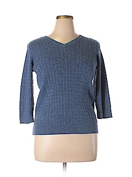 Karen Scott Silk Pullover Sweater Size XL