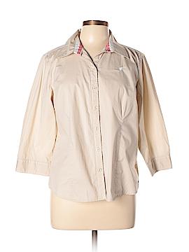 Cappagallo 3/4 Sleeve Button-Down Shirt Size L