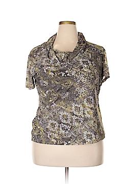 Jones New York Signature Short Sleeve Blouse Size 2X (Plus)