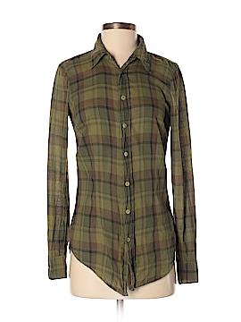SHiRt Long Sleeve Button-Down Shirt Size XS
