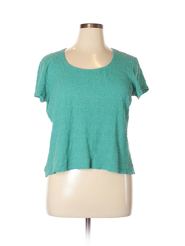 Jaclyn Smith Women Short Sleeve Top Size XL