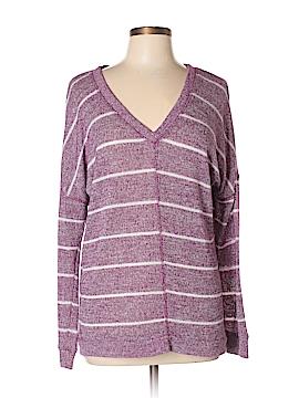 C & S Check & Stripe Pullover Sweater Size XL