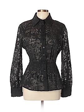Etcetera Long Sleeve Button-Down Shirt Size 12