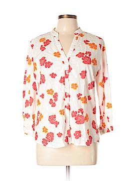 Peck & Peck 3/4 Sleeve Button-Down Shirt Size L