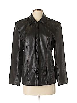 Petite Sophisticate Leather Jacket Size M