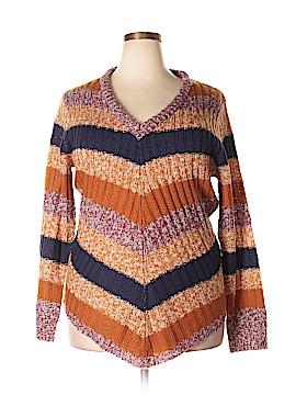 Derek Heart Pullover Sweater Size 2X (Plus)