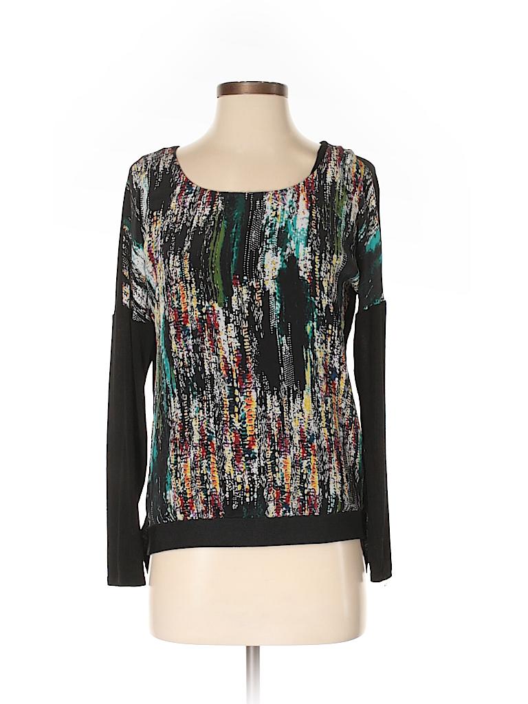 Julienne W. Women Long Sleeve Silk Top Size S