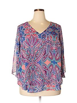 Boutique + 3/4 Sleeve Blouse Size 0X (Plus)