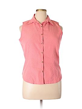 Columbia Sleeveless Button-Down Shirt Size L