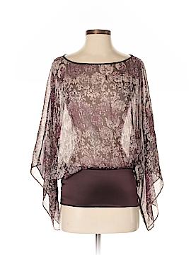 Express Short Sleeve Silk Top Size S
