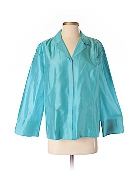 Liz Claiborne Collection Long Sleeve Silk Top Size 16