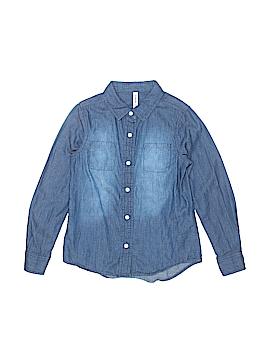 Fab Kids Long Sleeve Button-Down Shirt Size 6 - 7