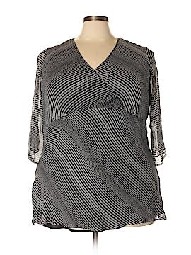 Avenue 3/4 Sleeve Silk Top Size 22 - 24 Plus (Plus)